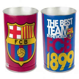 "FC Barcelona Wastebasket - tapered 15""H"